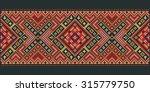ukrainian embroidery cross...   Shutterstock .eps vector #315779750