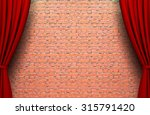 act drop on brick wall | Shutterstock . vector #315791420