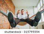 happy man  on the hammock | Shutterstock . vector #315795554