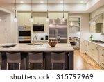 beautiful kitchen interior in... | Shutterstock . vector #315797969