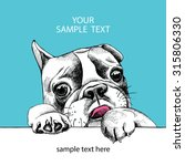 Card Template With Portrait Of...