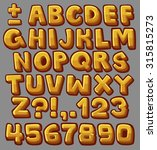yellow cartoon alphabet. vector ... | Shutterstock .eps vector #315815273