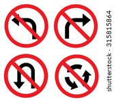 prohibition road sign set. no... | Shutterstock .eps vector #315815864