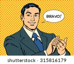 man applause bravo concept of... | Shutterstock .eps vector #315816179