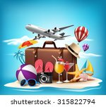 3d realistic summer vacation... | Shutterstock .eps vector #315822794