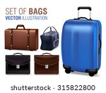 set of 3d realistic traveling... | Shutterstock .eps vector #315822800