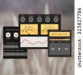 user interface audio template ... | Shutterstock .eps vector #315827786