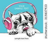 portrait of french bulldog with ... | Shutterstock .eps vector #315837923