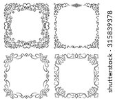 square decorative frames in... | Shutterstock .eps vector #315839378