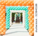 Balloon And Paper Arches Like...