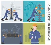 oilman  gasman or oil and gas... | Shutterstock .eps vector #315847040