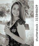 portrait of a beautiful girl... | Shutterstock . vector #315848609