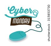 cyber monday concept with... | Shutterstock .eps vector #315853730