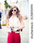 beautiful girl posing | Shutterstock . vector #315855494