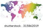 gradient world map | Shutterstock .eps vector #315862019