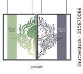 design posters with a color and ... | Shutterstock .eps vector #315870086