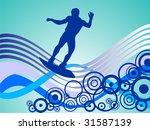 wake boarder on waves   vector | Shutterstock .eps vector #31587139