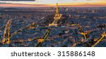 Small photo of Paris, France - May 14, 2014: Panorama view of the Eiffel Tower at night. It was named after the engineer Alexandre Gustave Eiffel.