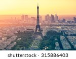 the paris city skyline at... | Shutterstock . vector #315886403
