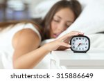 wake up of an asleep girl... | Shutterstock . vector #315886649