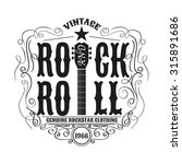 vintage rock and roll... | Shutterstock .eps vector #315891686