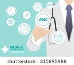 medicine doctor  working with... | Shutterstock .eps vector #315892988