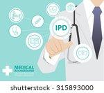 medicine doctor  working with... | Shutterstock .eps vector #315893000