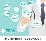 medicine doctor  working with... | Shutterstock .eps vector #315893084