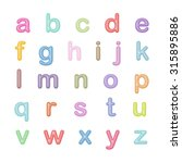 vector alphabet   simple letters | Shutterstock .eps vector #315895886