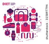 diet  flat design  illustration | Shutterstock .eps vector #315897794