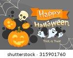 happy halloween banner...   Shutterstock .eps vector #315901760