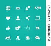 social media icons universal...   Shutterstock .eps vector #315902474