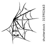 cartoon cobweb with smiling... | Shutterstock .eps vector #315902663