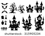 halloween   set of a ghost... | Shutterstock .eps vector #315905234