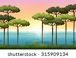 nature scene with trees and...