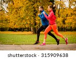 running together   friends... | Shutterstock . vector #315909638