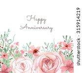 flower wedding invitation card  ... | Shutterstock . vector #315914219