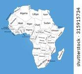 swaziland vector map silhouette ... | Shutterstock .eps vector #315915734