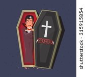 Dracula In Coffins. Character...
