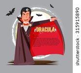 dracula character design open... | Shutterstock .eps vector #315915890