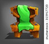 cartoon wooden chair. vector...