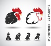 Chicken Head Icon Isolated On...
