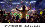 fans on stadium game panorama... | Shutterstock . vector #315921188