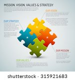 vector company core values  ... | Shutterstock .eps vector #315921683