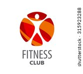 round vector logo for fitness... | Shutterstock .eps vector #315923288