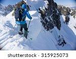 Skier In Deep Powder  Extreme...