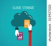 cloud storage vector concept in ... | Shutterstock .eps vector #315927320