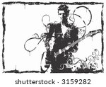 illustration of a guitarist | Shutterstock .eps vector #3159282
