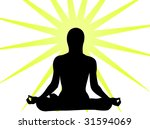 yoga expression in the sun as... | Shutterstock .eps vector #31594069