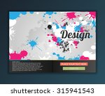 brochure flyer design vector... | Shutterstock .eps vector #315941543